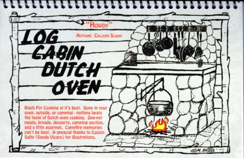 Log Cabin Dutch Oven Cookbook By Colleen Sloan
