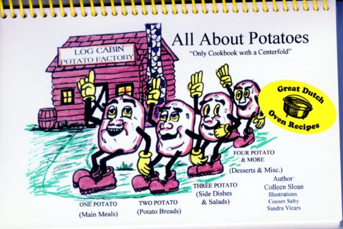 Log Cabin All About Potatoes Dutch Oven Cookbook By Colleen Sloan