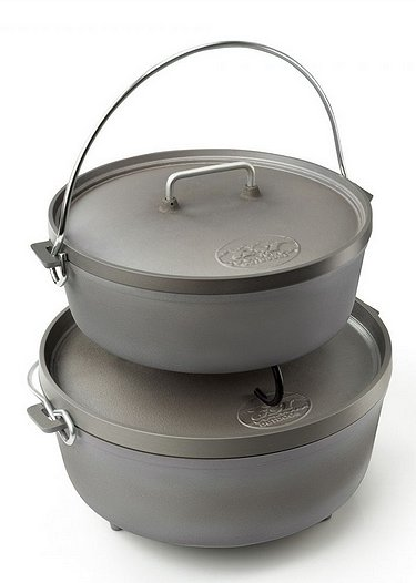 """GSI 10"""" and 12"""" Anodized Aluminum Dutch Ovens"""