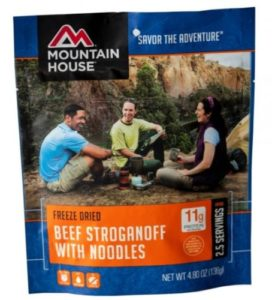 Mountian House Freeze Dried Beef Stroganoff and Noodles 2.5 Servings
